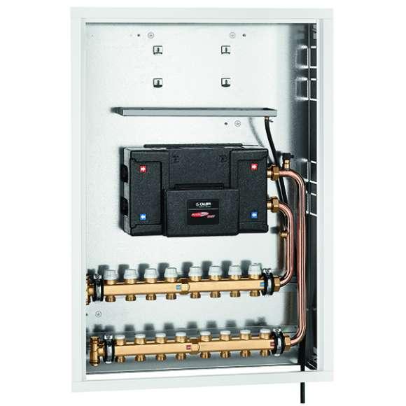 70028 - Cassetta ad incasso per PLURIMOD® EASY con collettore di distribuzione per impianti a ventilconvettore.