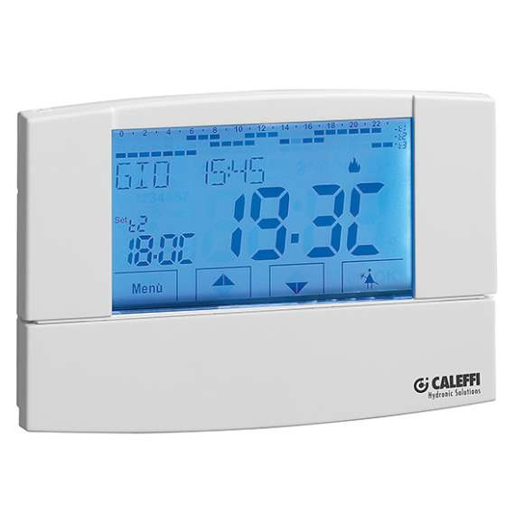 738 - Touch screen digital chrono-thermostat with battery electric supply