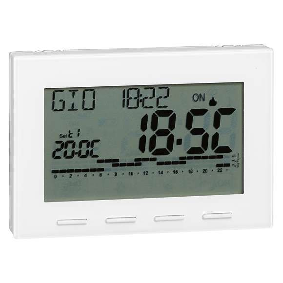 738 - Digital room chrono-thermostat with battery electric supply