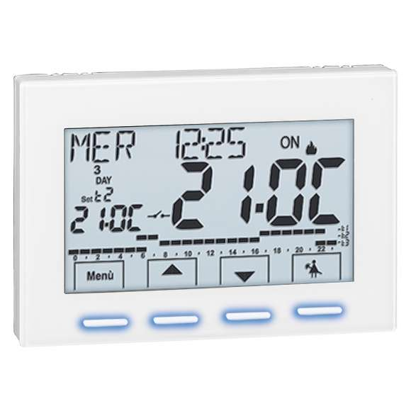738 - Digital room chrono-thermostat. Electric supply: 230 V