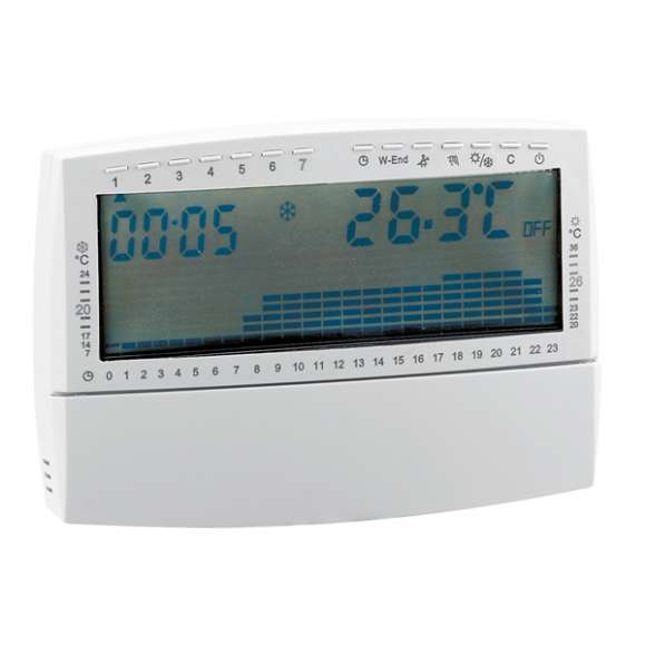739 - Digital chrono-thermostat, with battery supply; weekly programmable clock