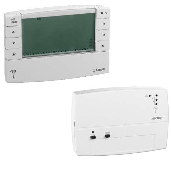 740 - Radiowy termostat czasowy + odbiornik montowany na ścianie