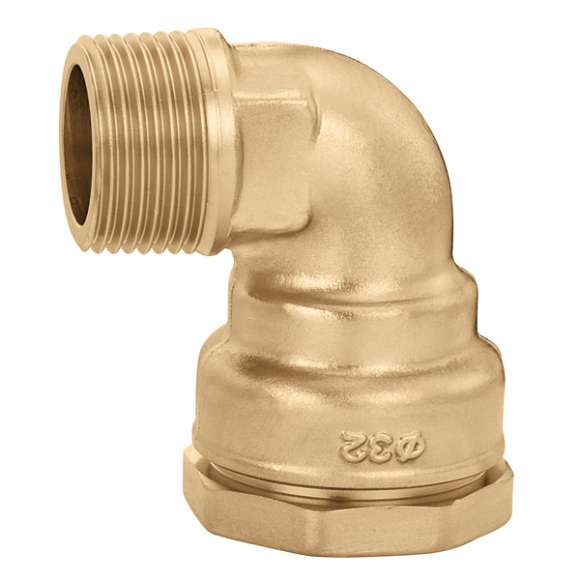 867 - Male elbow fitting in brass