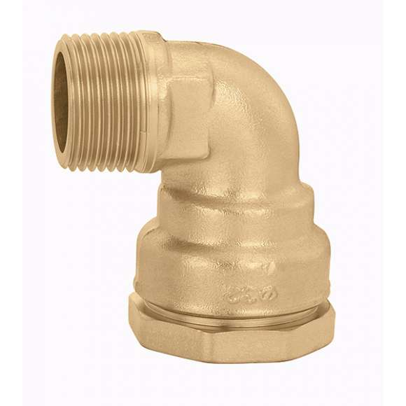 967 - Male elbow fitting in CR dezincification resistant alloy