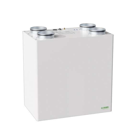 AIR112 - Unità di ventilazione meccanica verticale per installazione a parete con recuperatore di calore in polistirene ad alta efficienza - Qmax 150 m3/h