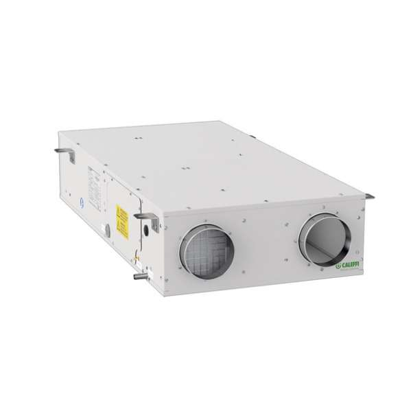 AIR111 - Unità di ventilazione meccanica orizzontale a controsoffitto con recuperatore di calore in polistirene ad alta efficienza - Qmax 150 m3/h