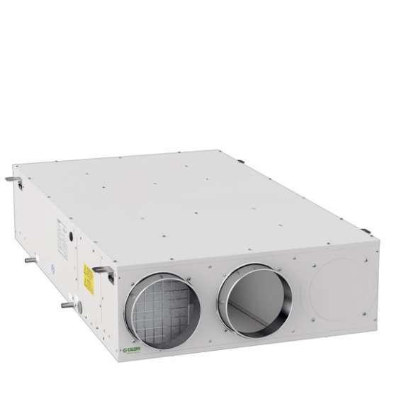 AIR111 - Unità di ventilazione meccanica orizzontale a controsoffitto con recuperatore di calore in polistirene ad alta efficienza - Qmax 450 m3/h