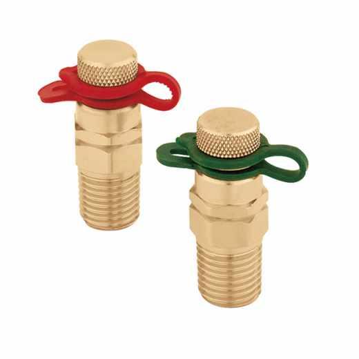 100 - Чифт бързи връзки за отвори за измерване на налягане и температура
