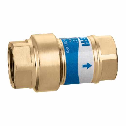 127 AUTOFLOW - Kompaktni avtomatski regulator pretoka z vložkom iz polimera z visoko vzdržljivostjo. Pretok: 0,085÷11,0 m3/h