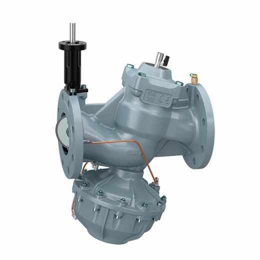146 - Pressure independent control valve. Grey cast iron body. Flanged connections