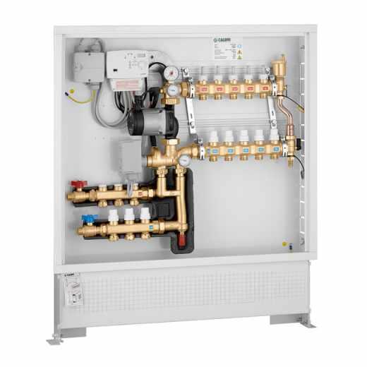 171 - Grupo de regulação térmica modulante com regulador digital e kit de distribuição de fluido para circuito primário