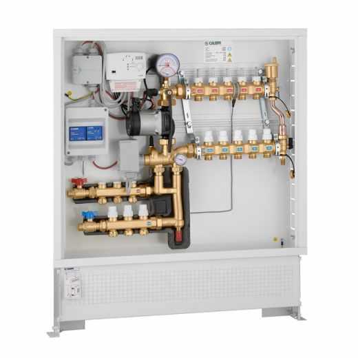 171 - Grupo de regulação térmica modulante com regulador digital para aquecimento e arrefecimento e kit de distribuição de fluido para circuito primário