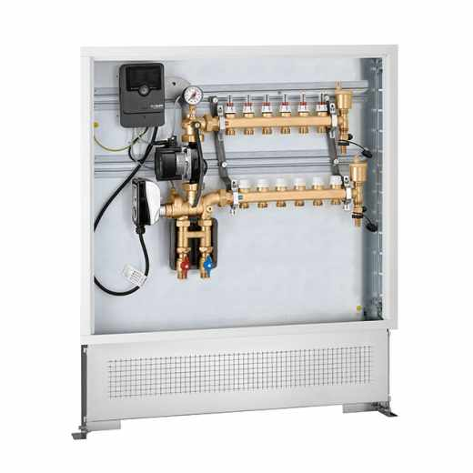 171 - Modulating temperature regulating unit. Pre-assembled in inspection wall box with compensated set point digital regulator