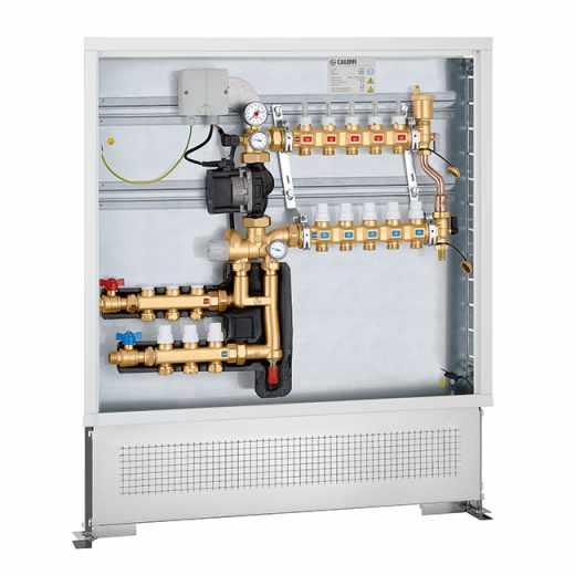 172 - Grupo de regulação termostática de ponto fixo com kit de distribuição de fluido para circuito primário