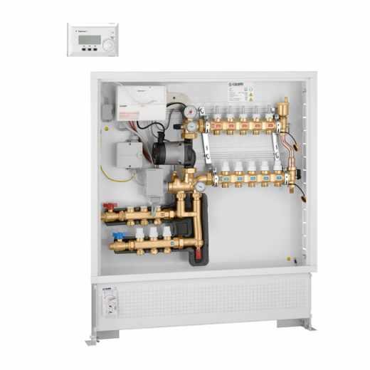 174 - Grupo de regulação térmica climática com kit de distribuição de fluido para circuito primário