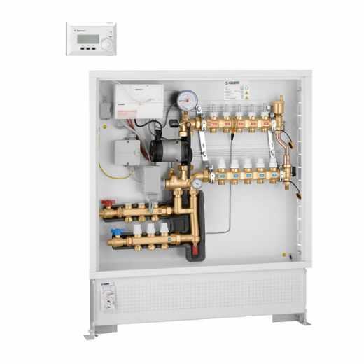 174 - Grupo de regulação térmica climática para aquecimento e arrefecimento com kit de distribuição de fluido para circuito primário