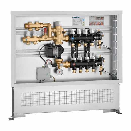 182 - Grupo de regulação termostática de ponto fixo com kit de distribuição de fluido para circuito primário