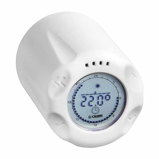 210 - WiCAL® - Самостоятелна хроно-термостатична управляваща глава с осветен отзад дисплей.