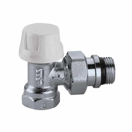 220 - Rohový termostatický radiátorový ventil s možností použití termostatické hlavice nebo servopohonu. Pro ocelová potrubí