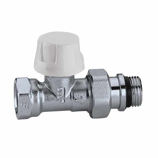 221 - Straight thermostatic radiator valve for steel pipes
