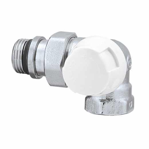 225 - Valvola termostatica doppia squadra, per tubo in ferro. Versione destra