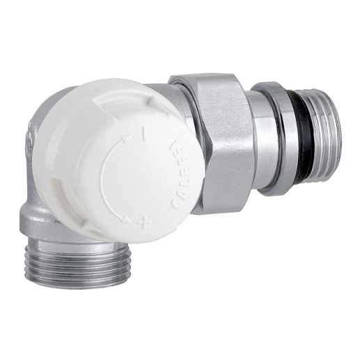 226 - Double-angled thermostatic radiator valve. Left-hand version