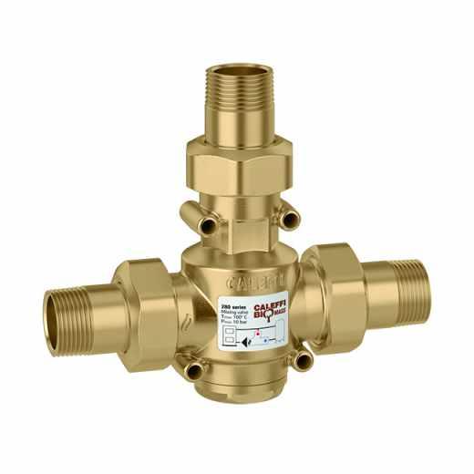 280 - Antikondenzační ventil s termostatickým ovládáním teploty média na vratu pro kotle na pevná paliva