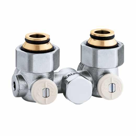 """3013 - Válvula especial para radiadores planos com grupo válvula termostática incorporado.Versão monotubo-3/4""""M.Com dispositivo anti-circulação"""