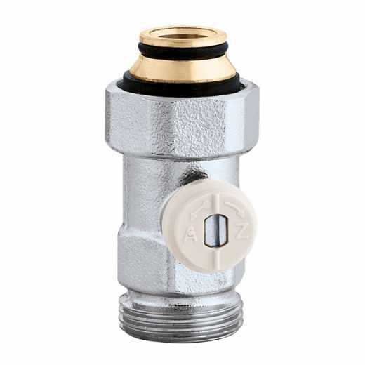 """3014 - Válvula especial para radiadores planos com grupo válvula termostática incorporado.Direita-3/4""""M"""