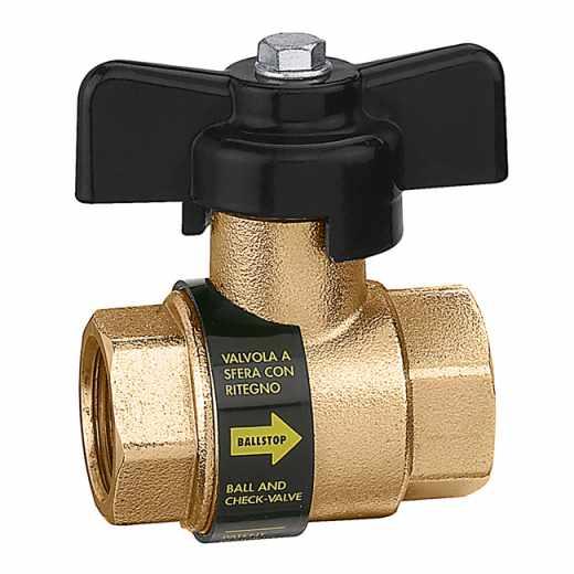 3230 - BALLSTOP - Loptasti ventil sa ugrađenim nepovratnim ventilom, sa leptir ručicom