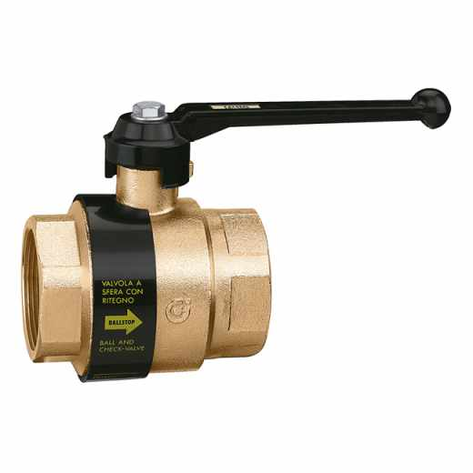 3230 - BALLSTOP - Ball valve with built-in check valve with lever handle