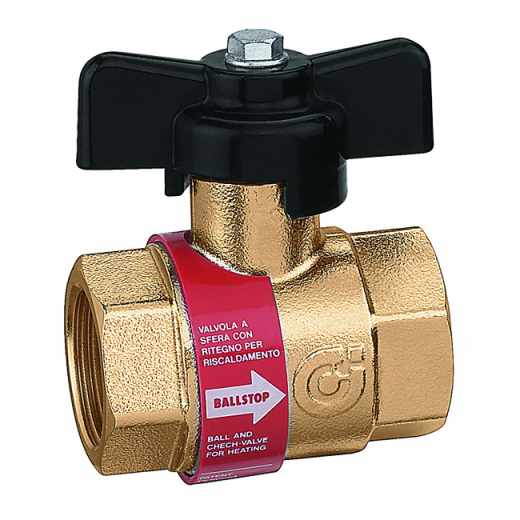 327 BALLSTOP - Kroglični ventil z vgrajeno nepovratno loputo, za sisteme ogrevanja