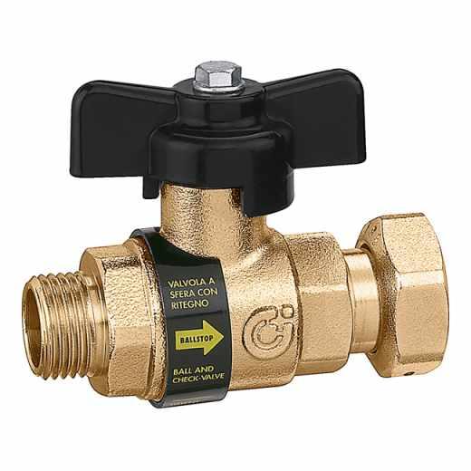 334 - BALLSTOP - Loptasti ventil sa ugrađenim nepovratnim ventilom sa osiguranjem protiv krađe