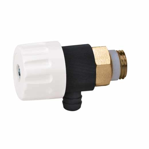 337 - Mini torneira de descarga com vedação metálica. Temperatura máx. 100ºC