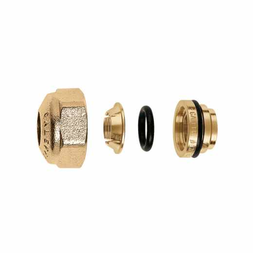 347 - Compression ends fitting for annealed copper, hard copper, brass, mild steel and stainless steel pipes. With O-Ring seal