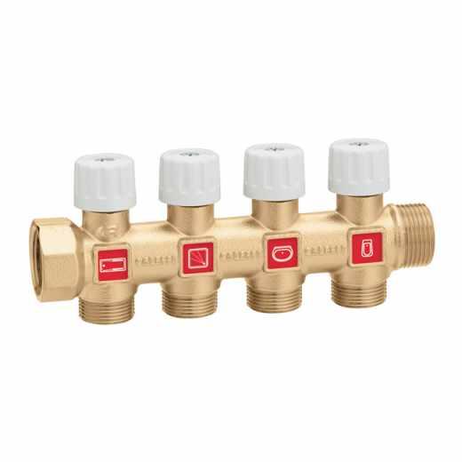 354 - Modular single distribution manifold with shut-off valves