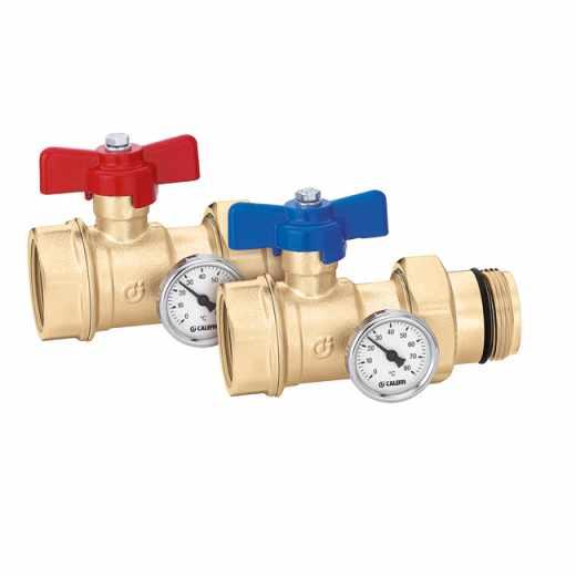 391...S1 - Par krogličnih ventilov, s termometrom