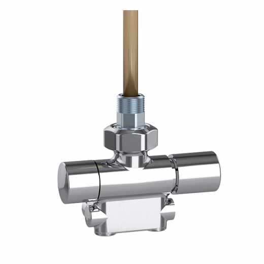 4005 - Valvola termostatizzabile predisposta per comandi termostatici ed elettrotermici. Cromata lucida. Versione destra