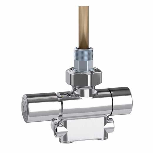 4005 - Valvola termostatizzabile predisposta per comandi termostatici ed elettrotermici. Cromata lucida. Versione sinistra