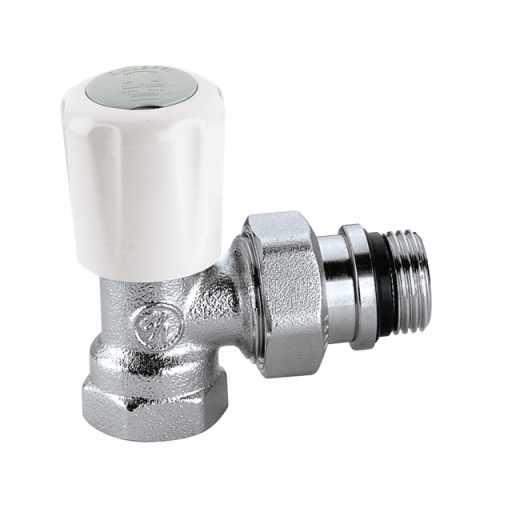 401 - Válvula termostatizável predisposta para comendos termostáticos e eletrotérmicos.Ligação em esquadria para tubagem de ferro
