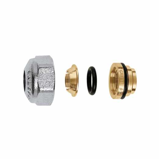 437 - Compression fitting for copper and stainless steel pipes, with O-Ring seal