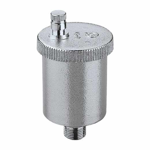 """5022 - VALCAL - Purgador de ar automático 1/4""""M, 3/8"""" e 1/2""""M. Cromado"""