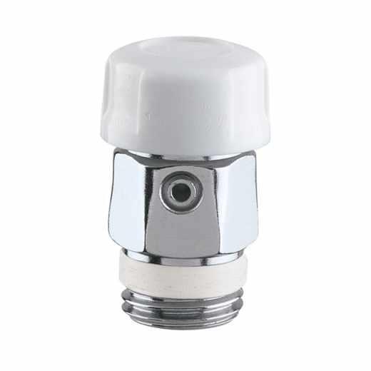 5055 - Purgador de ar manual para radiadores com vedação em borracha. Rosca com vedação em PTFE