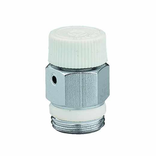 505 - Purgador de ar manual para radiadores. Rosca com vedação em PTFE. Cromado
