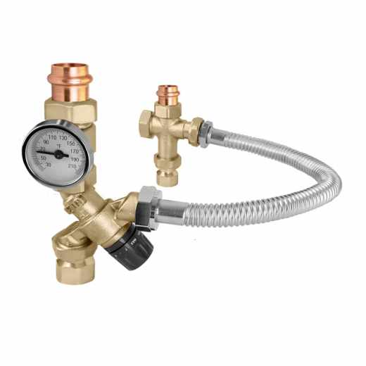 520 - TankMixer™ Mixing Valve (low lead, with temperature gauge)
