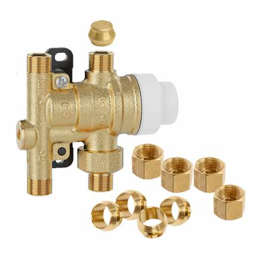 5212 - SinkMixer™ Scald Protection Point-of-Use Thermostatic Mixing Valve (4-way, includes fitting hardware)