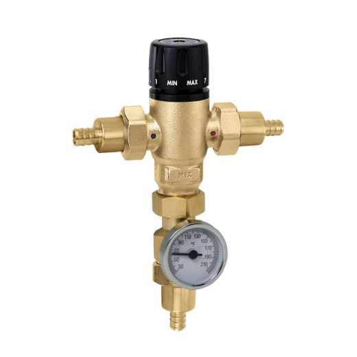 521 - MixCal™ Adjustable Thermostatic and Pressure Balanced Mixing Valve (PEX)