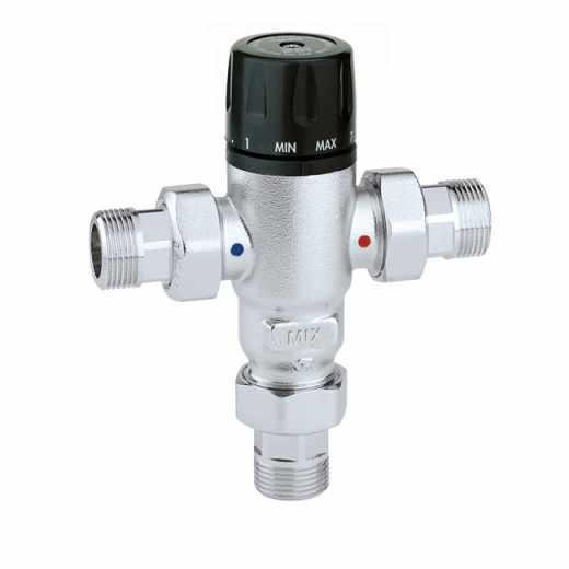 521 - Misturadora termostática anticalcário, regulável. Com válvulas de retenção.