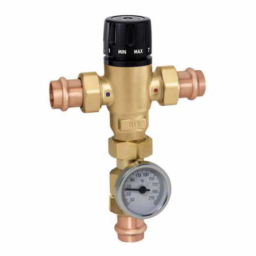 521 - MixCal™ Adjustable Thermostatic and Pressure Balanced Mixing Valve (press)