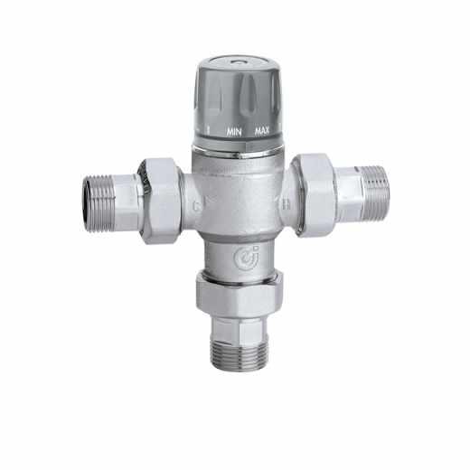 5218 - Misturadora termostática regulável com manípulo, válvulas de retenção e filtros